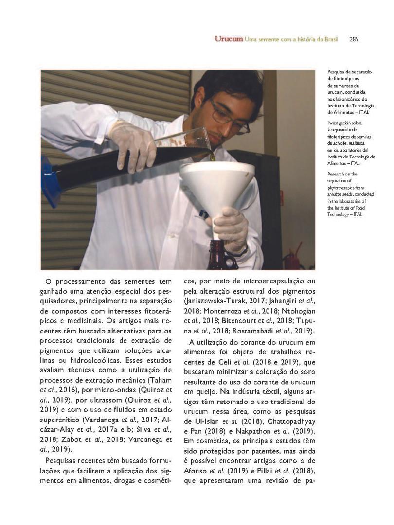 As pesquisas de fitoterápicos presentes nas sementes de urucum. - Acervo particular do autor