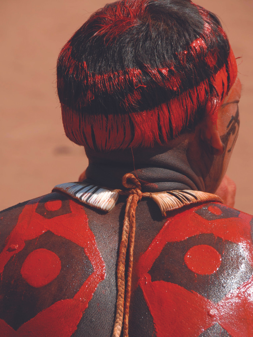 Índio Kuikuro - Aldeia Kuikuro - Parque Indígena do Xingu - Mato Grosso - Brasil - Autor: Serge Pierre Guiraud