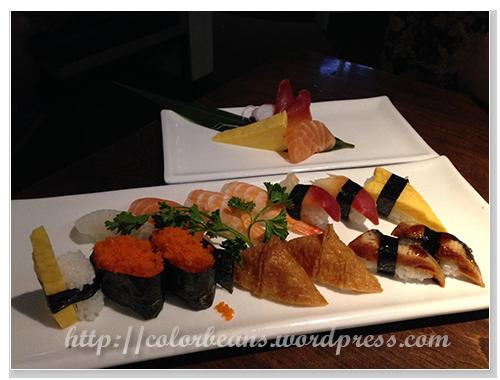 Augast 的壽司(sushi)和生魚片(sashimi)