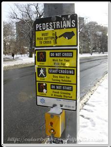 加拿大非幹道的地方過馬路要自己按唷!
