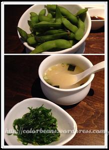 日式小菜和味噌湯