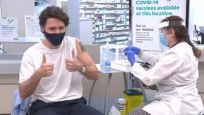 刚刚!加拿大总理夫妇接种阿斯利康疫苗!镜头前疯狂撒糖,兴奋比赞!