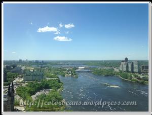 西邊 - 建築物不小心被我切掉了,只留美麗的Ottawa River