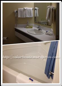 浴室非常簡單但設備齊全