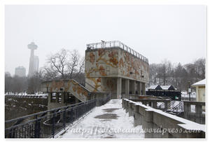 Niagara-Falls 因為冬天關係,所以無法上觀景台