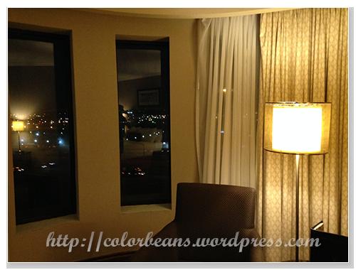 這次的房間有city view