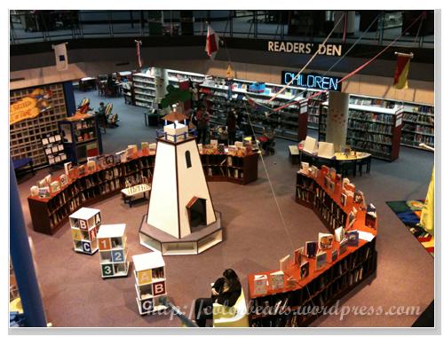 Mississauga-Library 地下樓的兒童區!