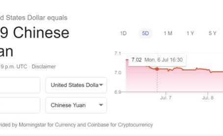 人民币兑美元破7!A股价与汇率同涨,人民币连涨四天1个月升值近3%!