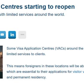 终于 ¦ 加拿大重开中国10个签证中心!各大航空公司悄悄修改规定
