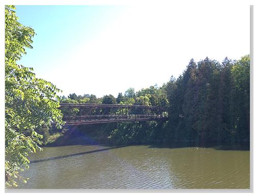 河川上的一座橋