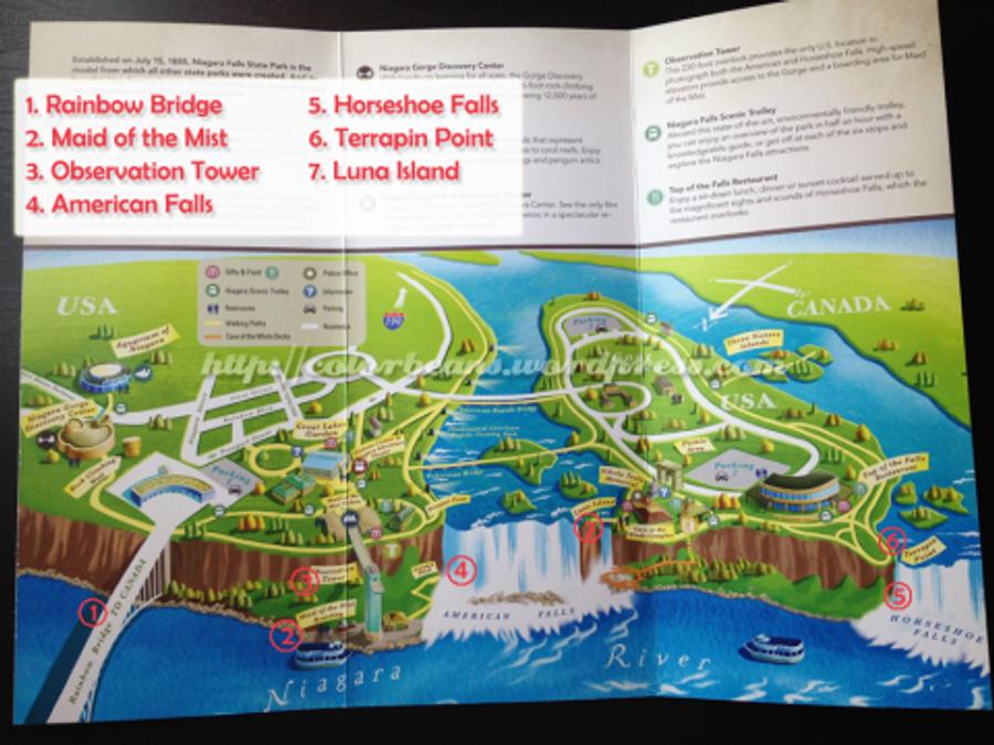 美國尼加拉瀑布公園地圖 (點選可以看大圖)