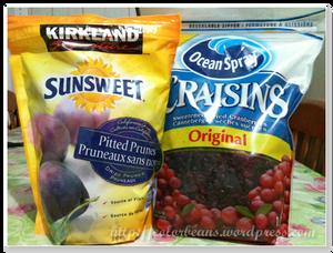 Canada 超市買的大包Cranberries和Prunes