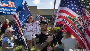 川普被判无罪后首次公开亮相,民众热烈欢迎仿佛迎接英雄…
