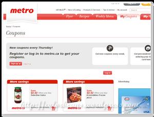超市metro提供的coupons