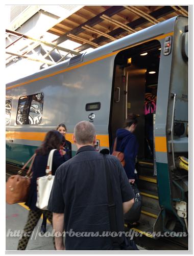 不確定車廂的話有站務員引導到正確的車廂