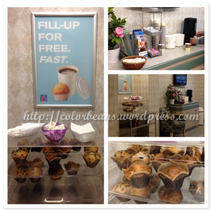 熱咖啡和Tim Hortons的Muffins~~!