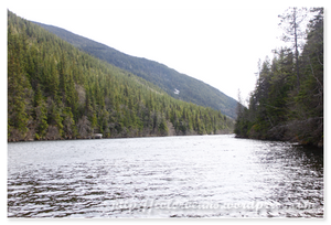 細長形的Lower Dewey Lake