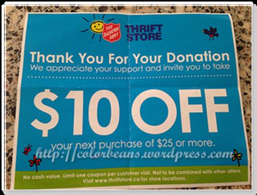 Thrift Store捐贈物資還會送折價券
