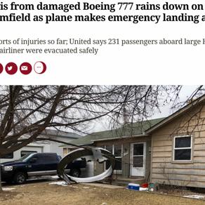 美国联合航空(United Airlines)一架满载着241名乘客的波音777型号客机,在起飞的时候后不久突然引擎失灵爆炸