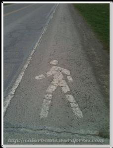 看著路上的小人,嗯,我沒走錯路
