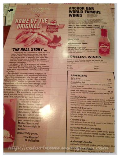 餐單第一頁當然就是Buffalo Wings呀