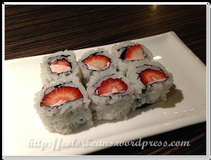 草莓口味的壽司喔!
