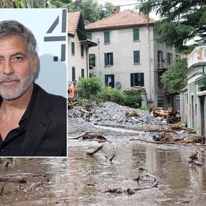 乔治克鲁尼千万豪宅被洪水摧毁 垃圾沙石俱下变废墟