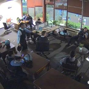 视频曝光:整个城市正被抢劫而警察却在的喝咖啡吃爆米花:你抢你的 我休息我的!
