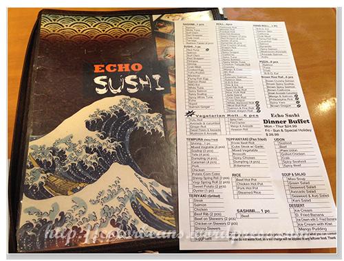 Echo Sushi菜單