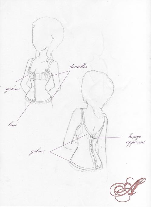 Acompte corset XIXe