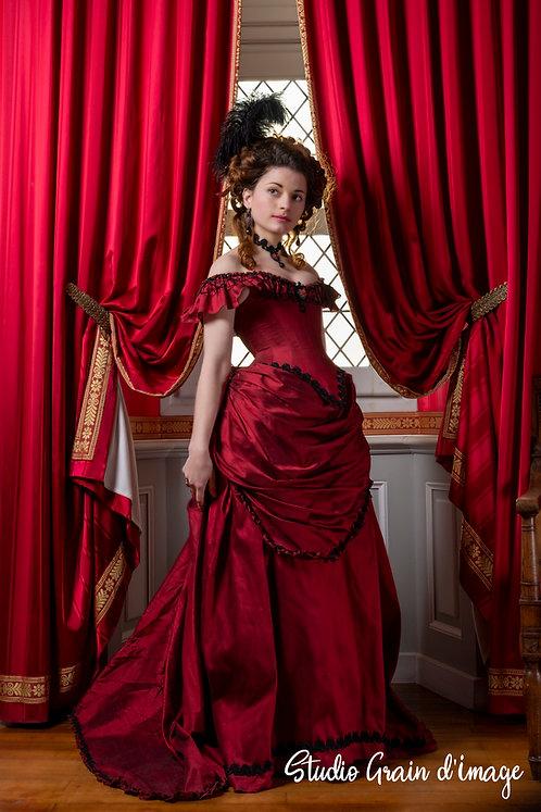 Robe de cérémonie collection Jane Avril en soie sauvage