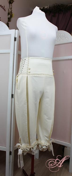Pantalon culotte ivoire