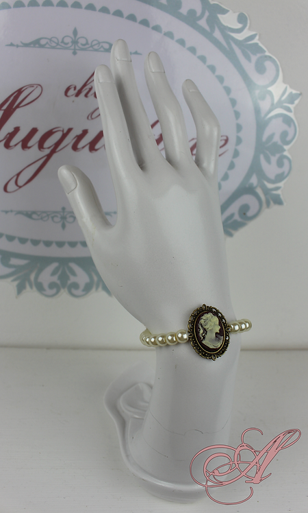 Bracelet camée support bronze