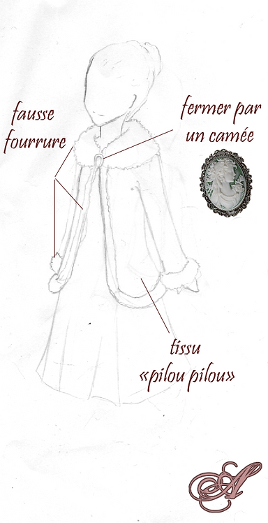 Manteau/cape Aurelie Andrieu