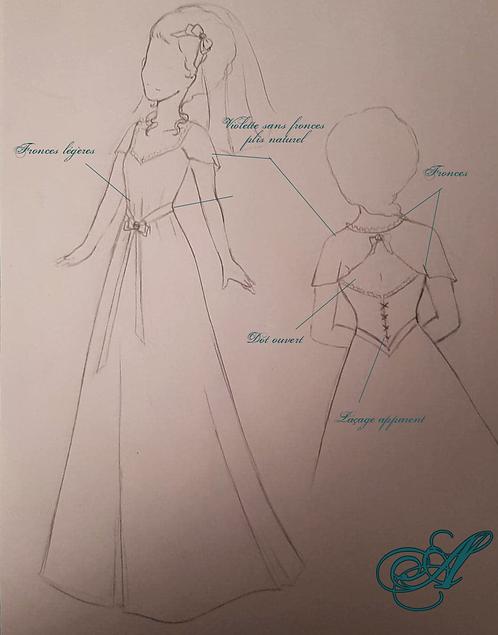 Acompte robe de mariée légère