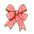 —Pngtree—pink cute wave point bow_442498