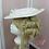 Thumbnail: Chapeau en mousseline et dentelle guipure