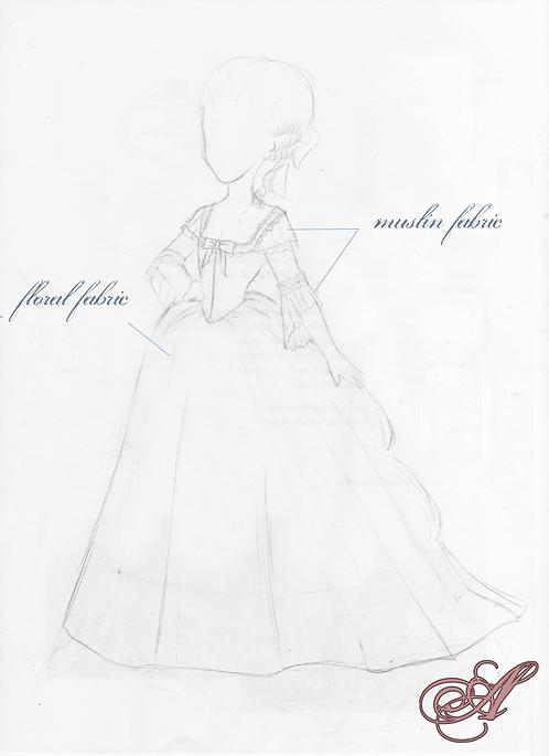 paiement acompte robe XVIIIe