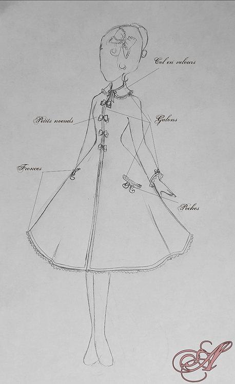 Acompte robe inspiration année 50