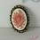 Thumbnail: Broche camée fleur support bronze