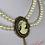 Thumbnail: Collier camée et perles support bronze