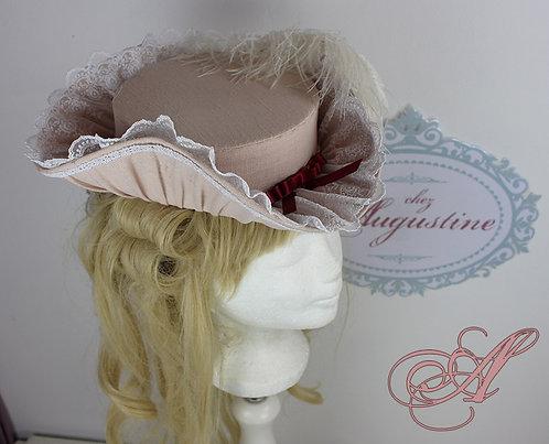 Chapeau collection Marie-Thérèse Rodet Geoffrin revisité