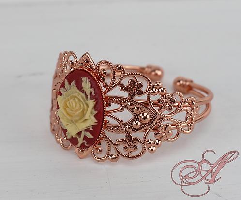 Bracelet camée support rose