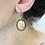Thumbnail: Boucles d'oreilles camée fleur bronze