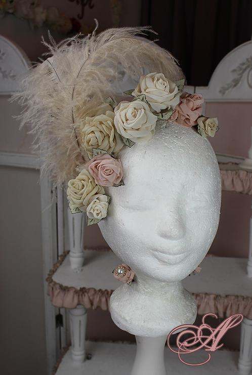 Coiffe de fleurs collection Sophie Germain.
