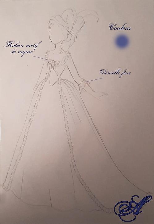 Acompte robe Marie-Antoinette