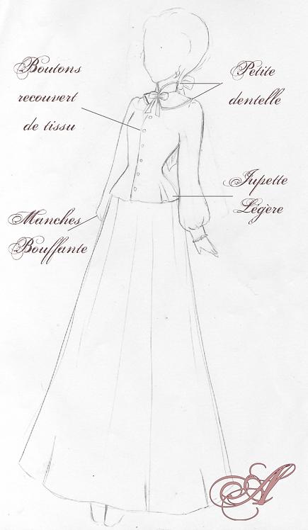 Buste corseté + jupe sans volume