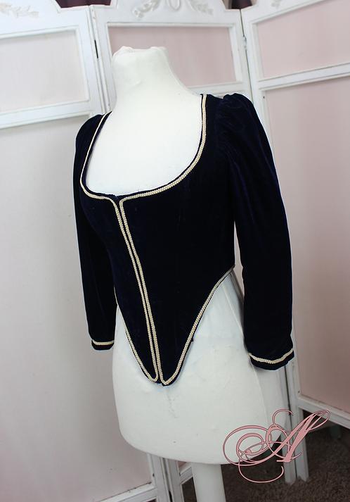 Buste corseté en velours