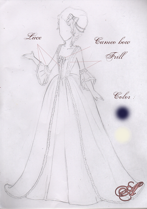 Acompte Robe collection Louise-Elisabeth et Henriette de France