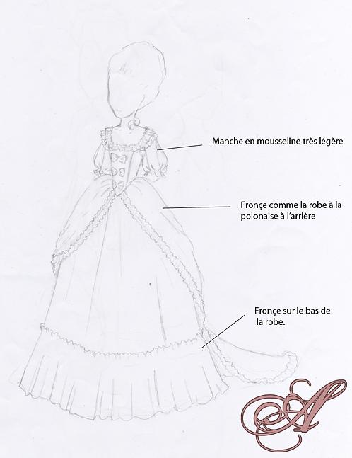 Acompte robe XVIIIéme siècle Lucie Netharrah Soubise